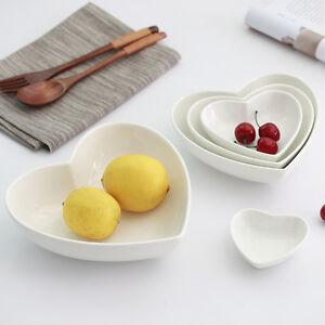 Ceramic-Dinner-Food-Plate-Salad-Bowl-Seasoning-Holder-Saucer-Dish-Heart-Shape