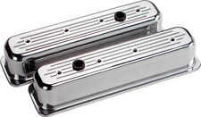 Billet Specialties Ball Milled Polished Alum Sbc Center Bolt Tall Valve Covers