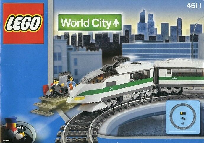 LEGO Train 9V World City 4511 High Speed Train Nuovo Sealed