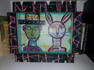 "Jim Kopp Folk Artist Original Painting ""Harvey"" Jimmy ..."