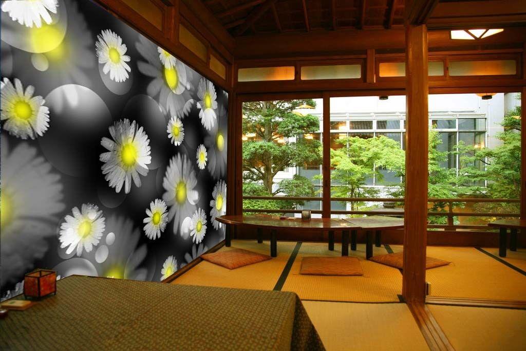3D Wildflowers 94 Wallpaper Mural Paper Wall Print Wallpaper Murals UK Lemon