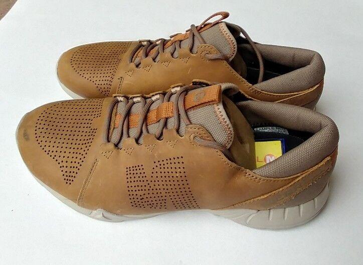Merrell mens  Versent Kavari Lace Cuoio Marroneee  crema casual scarpe Dimensione 9  liquidazione