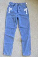 Vintage Junior's Mervyn's Bergamo Blue Jeans Size 9 Slim Fit Lace Detail
