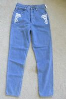 Vintage Junior's Mervyn's Bergamo Blue Jeans Size 9 Slim Fit Lace Detail