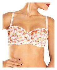 5dd5567954595 Chantelle Merci Sheer Lace Demi Bra 1745 Poppy Print Size 36B