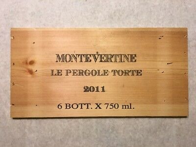 Wine Bags, Boxes & Carriers Punctual 1 Rare Wine Wood Panel Montevertine Vintage Crate Box Side 7/18 453 Sturdy Construction