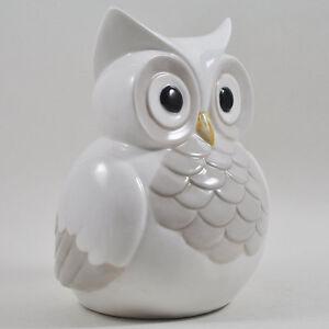 Con-Dibujo-De-Buho-Escultura-De-Ceramica-Blanca-Estilo-Pintado-Cocina-Casa-Jardin-h16cm-33031