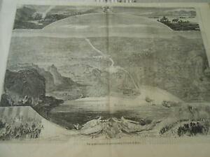 Vente Professionnelle Gravure 1859 - Vue Panoramique Du Percement De L'isthme De Suez