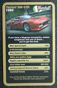 1 x single swap Top Trumps card car Ferrari 360 Challenge Stradale SC2
