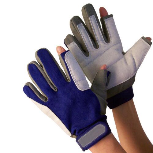 Navyline Segelhandschuhe Amara Kunstleder 2 Finger geschnitten Handschuhe Segeln Bekleidung