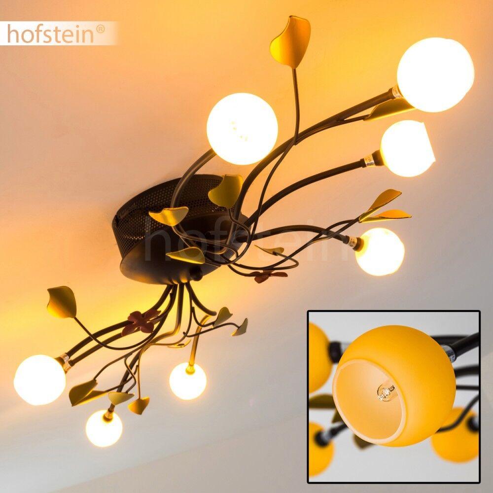 Deckenleuchte Wohn Flur Küchen Zimmer Leuchten Flur Strahler Decken Lampen Glas