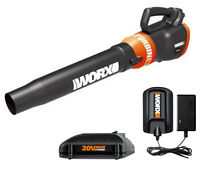 Worx WG546 Turbine 20V 2.0 Ah Cordless Lithium-Ion Leaf Blower - Manufacturer Refurbished