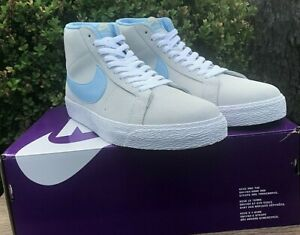Nike SB Zoom Blazer Mid Mens Size 11 Grey Blue Skate Sneaker Suede Upper Lace Up