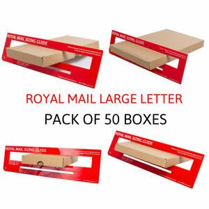 50 C5 C6 C7 SIZE POSTAL BOX ROYAL MAIL LARGE LETTER POSTAL CARDBOARD MAILING BOX