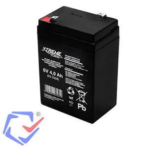 Gel-Akku-Batterie-6V-4Ah-4-Ah-Gelakku-Ersatzakku-XTREME-Wartungsfrei-NEU