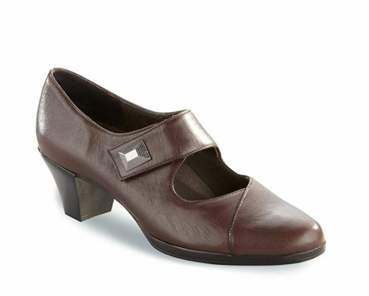 Munro Women's Brown Leather Mary Janes Heels 7071 Size 9.5SS