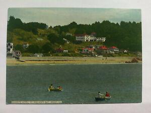 St Brelade's Bay Jersey Vintage colour postcard c1960s Biarritz Hotel