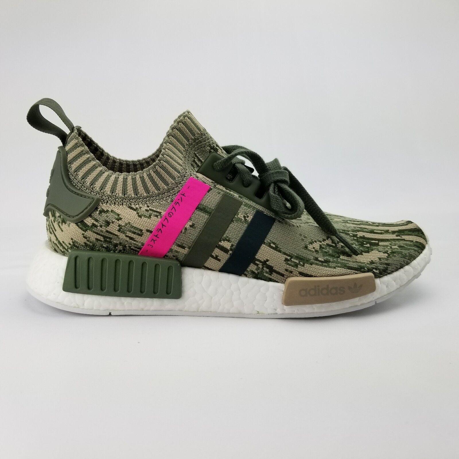 Adidas Primeknit NMD R1 PK Camo BY9864 Japan Green Pink Women's Running shoes 10
