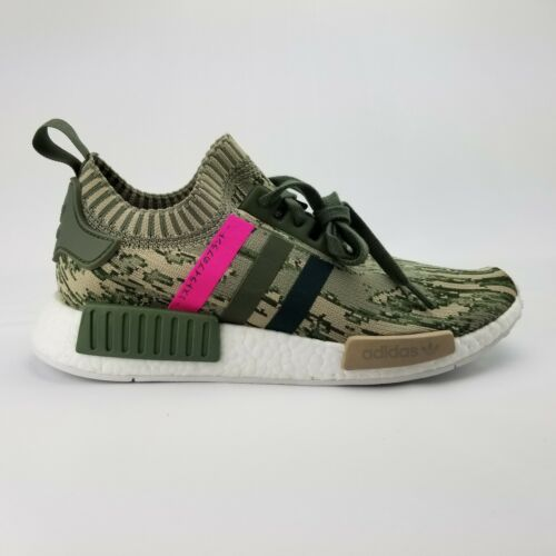 para mujer Pink correr zapatos Japan Adidas By9864 Green Nmd 10 de Camo R1 Pk Primeknit Spwqv4O