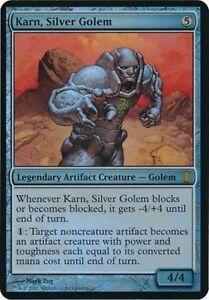MAGIC KARN, SILVER GOLEM FOIL OVERSIZED CARD - COMMANDER'S ARSENAL LIMITED EDIT.