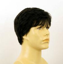 Perruque homme 100% cheveux naturel noir ref JAMES 1b