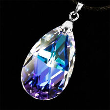 CosInStyle Necklace for Yui Genuine 925 Sterling Silver Heart Pendant with Crystal Glass Stone