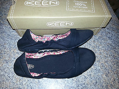 keen women s cortona bow cvs casual shoe ballet flat black size 5 ebay