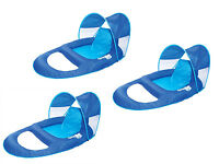 Swimways Spring Float Recliner Pool Lounge Chair W/ Sun Canopy (3-pack) | 13022 on sale
