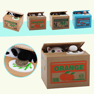 New-Piggy-Bank-PANDA-Cat-Steal-Money-Coin-Saving-Box-Pot-Storage-Xmas-Kids-Gift