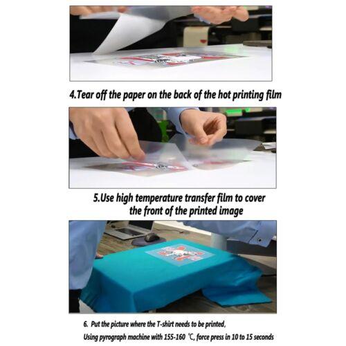 "Heat Press Transfer White Matte Printable /& Cutting Ultra-Soft Vinyl 24/""x50ft"