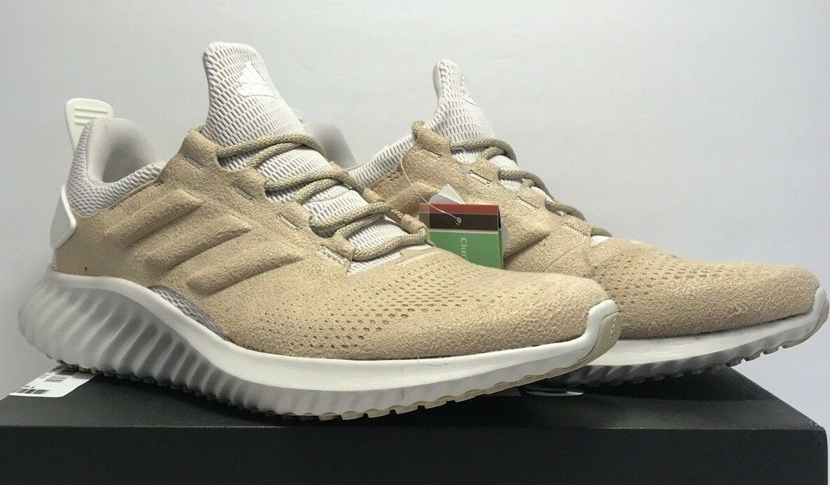 Adidas Mens Size 8 Alphabounce CR Tan Leather Running shoes DA9935