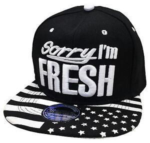cdecff9d3e6 snapback fresh USA BASEBALL CAP HAT HIP HOP COOL TRUCKER Cappy Black ...