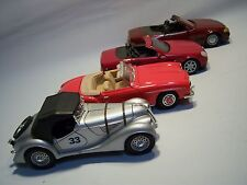 Vintage Set Of Four Classic Collectible Die Cast Model Cars