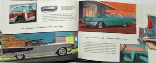 1957 Chrysler Windsor Saratoga New Yorker Color Sales Brochure Original
