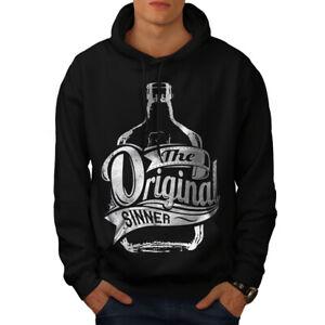 Wellcoda-Unique-Sinner-Funny-Mens-Hoodie-Rum-Casual-Hooded-Sweatshirt