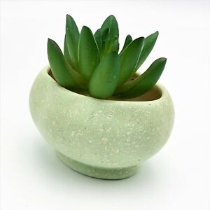 Small-Roselyn-Potters-Rye-Vic-Planter-Pot-Vase-Speckled-Green-Vintage-Retro