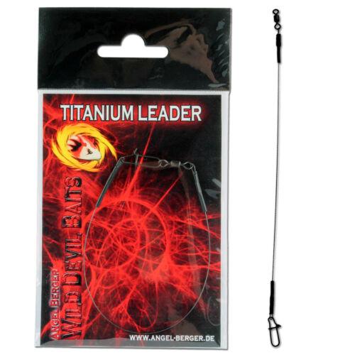 Wild Devil Baits Titanium Leader Titan Vorfach 15 Kg