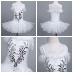 cfef5d1ad Kid Girl Ballet Tutu Leotard Dance Dress Fairy Swan Costume ...