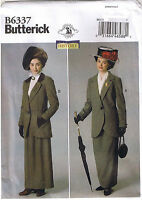 Victorian 1900s 20th Century Mary Poppins Jacket Skirt Sew Pattern 6 8 10 12 14