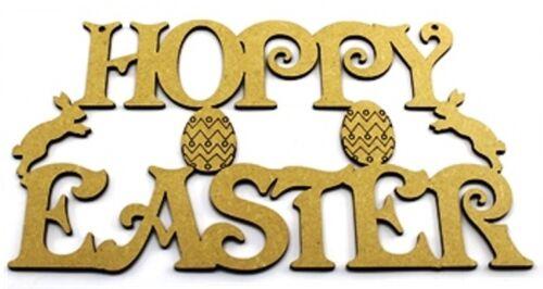 Happy Easter Hoppy Easter Cute Plaque MDF Laser Cut