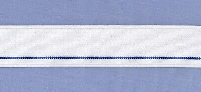 28mm x 1.5 metre WHITE By Hemline Mens Underwear Elastic