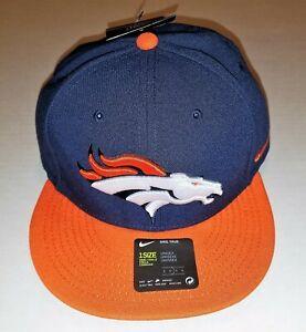 6d3c8a14 NIKE TRUE NFL DENVER BRONCOS SNAPBACK NAVY BLUE ORANGE HAT CAP ...