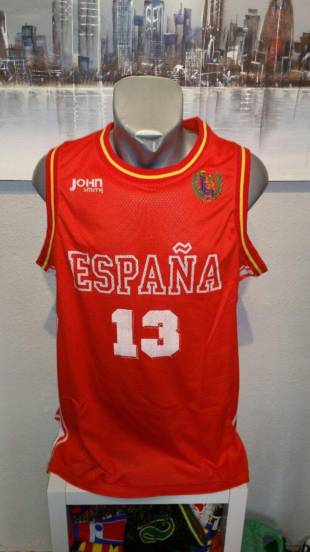 CAMISETA SHIRT VINTAGE MUSEUM JOHN SMITH ESPAÑA SELECCION BASKET DORSAL 13 XL