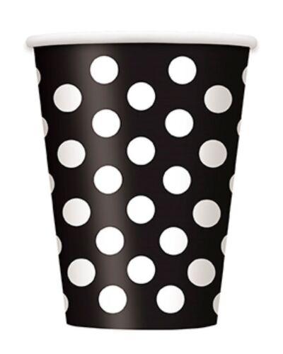 Dots Black midnight polka dot party items range tableware /& balloons