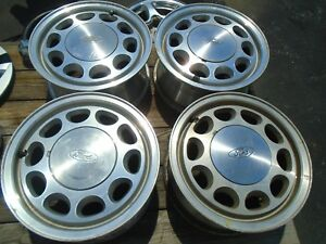 Fox Body Wheels >> Ford Mustang Gt Lx Fox Body 15 Wheel Rims Set Of 4 Oem Ebay
