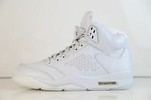 check out b94d0 dd6a5 Image is loading Nike-Air-Jordan-Retro-5-PRM-Premium-Pure-