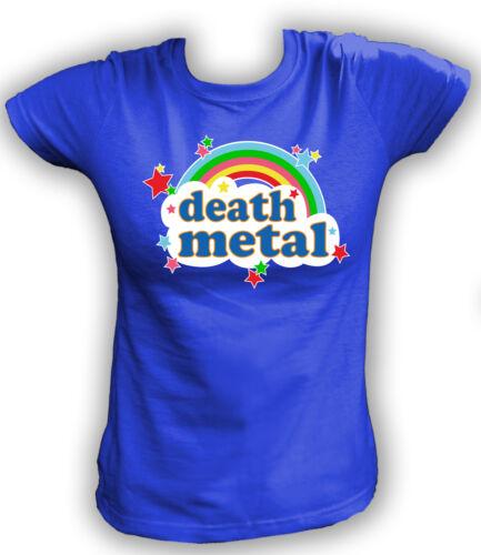 Damen T-Shirt DEATH METAL Heavy Skull Dead Skulls Metaller Hard Rock Musik Music