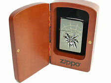 Zippo Spider Skull 3D Limited Edition in Holzbox, Spinne limitiert, niedrige Nr.