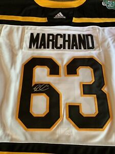 innovative design bf68b 39415 Details about Brad Marchand Signed Boston Bruins Winter Classic Jersey  Autographed 2019