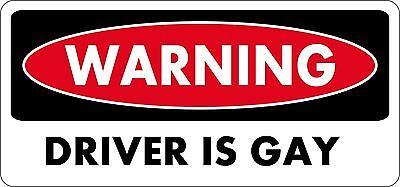 sticker decal car bike bumper laptop macbook jdm tunning driver gay warning